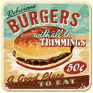 Burgers drinks mat / coaster   (na)